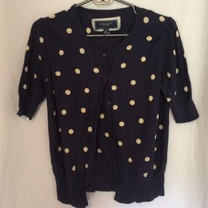 Polka-dot Short-sleeved cardigan